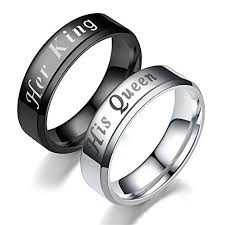 couples rings set images Couple rings her king his queen titanium ring his and hers jpg