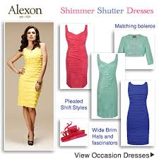 pleated shimmer shutter occasion dresses pink blue green yellow