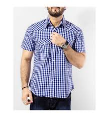 Mens Half Sleeves - buy blue check s half sleeves shirt dezynish