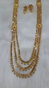big gold fashion necklace images Ap big rani haar 2 necklace set gold plated long necklace set jpg