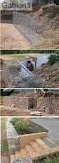 Garden Baskets Wall by Gabion Wall With Brick Steps Http Www Gabion1 Com Au Gabion