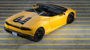 yellow lamborghini gallardo 2016 lamborghini huracan lp 610 4 spyder convertible review with