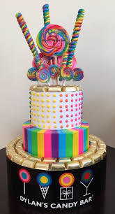 Candy Themed Centerpieces by Dylan U0027s Candy Bar Party Dylan U0027s Candy Cake Candy Centerpieces