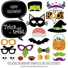amazon com trick or treat halloween party photo booth props kit