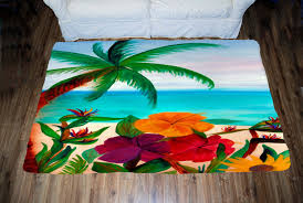 Tropical Area Rugs Tropical Floral Beach Area Rug From My Art
