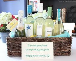 bridal shower wine basket quenching your thirst through all of your firsts wine gift basket