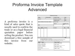 proforma invoice templates free samples