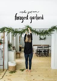 diy foraged evergreen garland fresh exchange