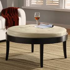 oval coffee table ottoman round storage leather large square