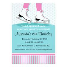 ice skating invitations u0026 announcements zazzle
