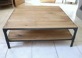 Table De Salon Industrielle by Table Basse En Bois Et Acier U2013 Ezooq Com