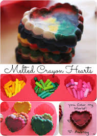 melted crayon hearts easy kids valentine u0027s day craft