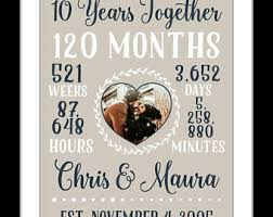 20 year wedding anniversary wedding anniversary gifts for him paper canvas 10 year
