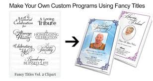 make your own funeral program diy funeral programs and memorial booklets