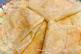 cuisine de sousou feuilles de pastille maison ramadan spécial fillo dough