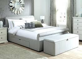 Grey Upholstered Ottoman Bed Grey Fabric Ottoman Fbric Otmn Clssy Ddition Birlea Berlin