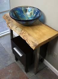 slab sink 36in hardwood live edge slab bathroom vessel sink vanity pedestal