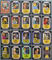 the simpsons tcg and foil cards part 1 2 a m ebay