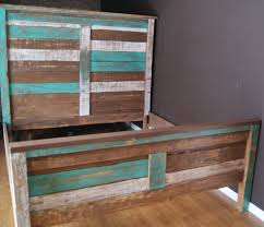 shabby chic reclaimed queen bed set rustic headboard foot board