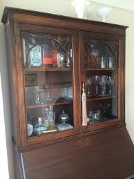 Furniture Secretary Desk Cabinet by Mulford Rowhouse Turning A Secretary Desk Into A Bar