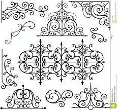wrough iron ornaments stock vector image of craft backdrop 3739407