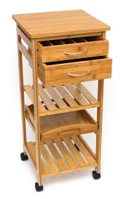 Lipper International Bamboo Kitchen Drawer Dividers by Bamboo Space Saving Serving Cart With Removable Tray Lipper