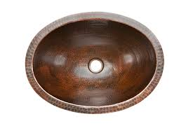 premier copper products lo19fdb oval under mount hammered copper