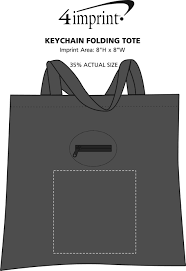 4imprint com keychain folding tote 118823 imprinted with your logo