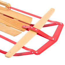 best choice products wood snow sled toboggan sledge for ski