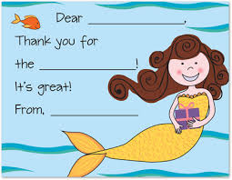 kids thank you cards pretty mermaid kids fill in thank you cards stationery