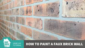 painting a faux brick wall youtube