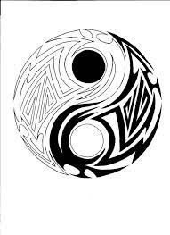 Yang Yang Tattoos Beautiful Tribal Yin Yang Design