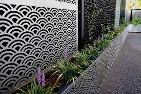 garden screen with planter boxes home outdoor decoration