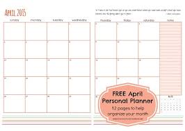 free printable planner 2016 australia april personal planner pages free printable