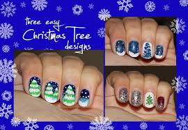 three easy christmas tree nail designs for short nails youtube