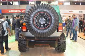 mahindra thar daybreal rear at nepal auto show 2017 indian autos