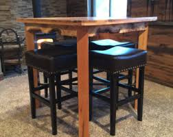 Oak Bar Table Pub Table Etsy