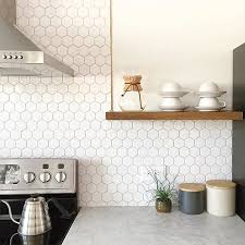 white tile backsplash kitchen white hex backsplash by anna smith of annabode co hey homie