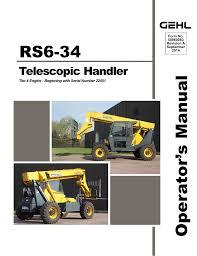 rs6 34 operator s manual