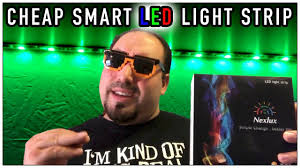 nexlux led light strip cheap smart led light strip that work with alexa youtube
