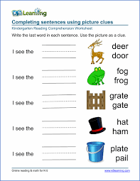 kindergarten ela worksheets free worksheets library download and