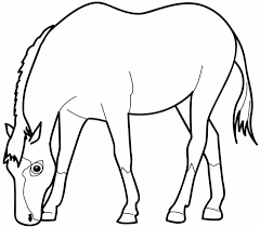 horse eating grass coloring free printable coloring pages