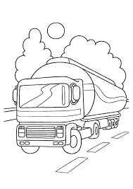 tank truck on the road coloring page transportation 22 best