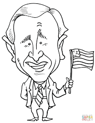 george w bush caricature coloring page free printable coloring