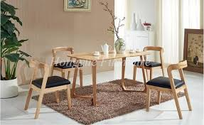 Dining Table And Chair Set Sale Oak Wood Dining Table Leather Material Chair Set Furniture