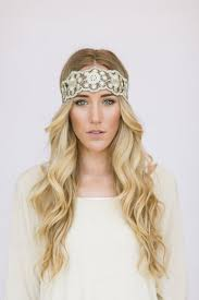 great gatsby headband great gatsby embroidered lace gold and black stretchy headband