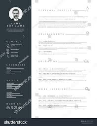 Resume Templates Minimalist by Vector Minimalist Cv Resume Template Nice Stock Vector 429177148
