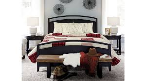 arch charcoal twin bed crate and barrel