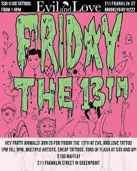 7 shops with friday the 13th tattoo deals