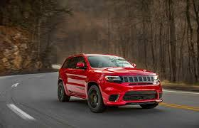 brown jeep 2018 jeep grand cherokee trackhawk review the hellcat jeep